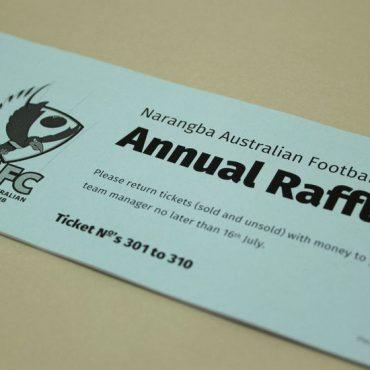Cover Blue - AFL CLUB Raffle Ticket Printing | Budget Raffle Tickets