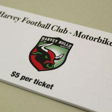 AFL CLUB Raffle Ticket Printing | Budget Raffle Tickets