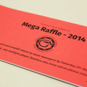 Football Club Raffle Ticket Printing | Budget Raffle Tickets