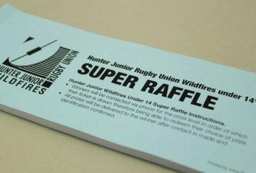 JUnior Rugby Club Raffle Ticket Printing | Budget Raffle Tickets