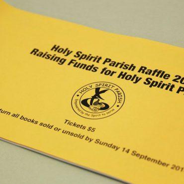 Cover - Parish Raffle Ticket Printing | Budget Raffle Tickets