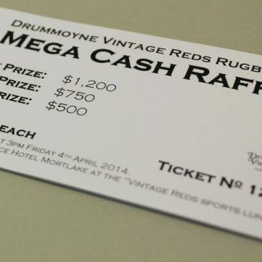 Rugby Raffle Ticket Printing | Budget Raffle Tickets