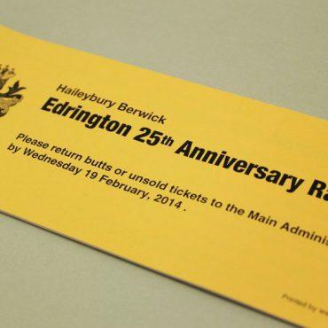 Gold Cover - School Raffle Ticket Printing | Budget Raffle Tickets