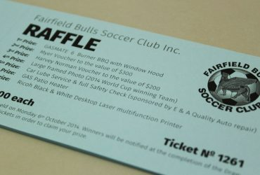 Soccer club Raffle Ticket Printing | Budget Raffle Tickets