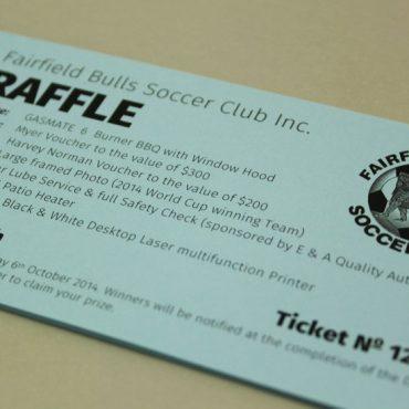 Soccer club Raffle Ticket Printing | Budget Raffle Tickets