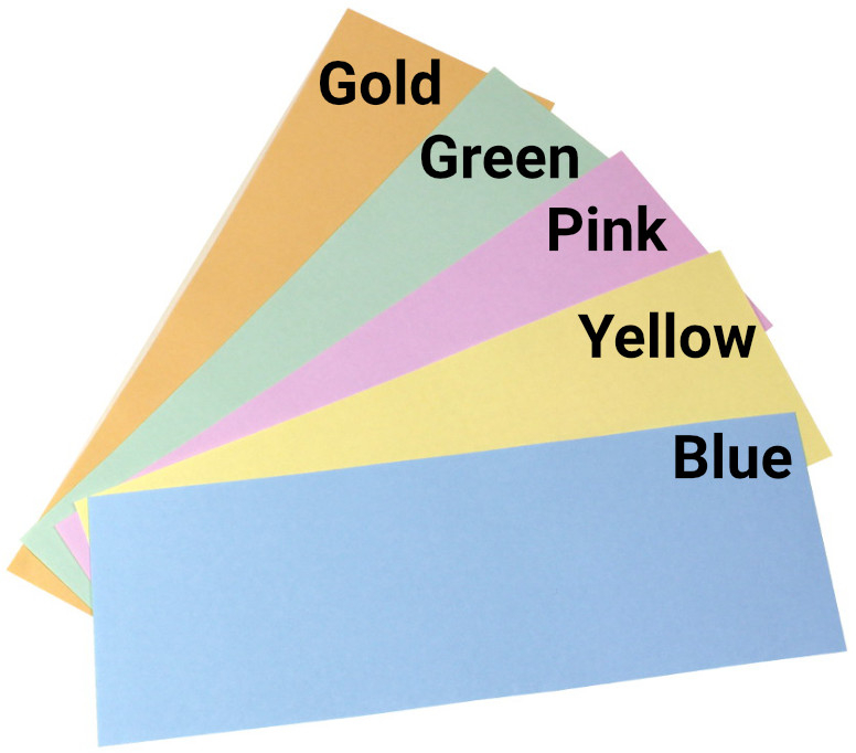 Paper colours available Budget Raffle Tickets